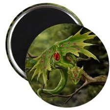 Ruby Leaf Dragon Magnet