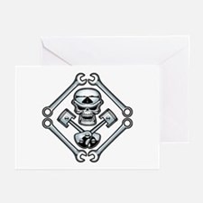Piston Pistoff Greeting Cards (Pk of 10)