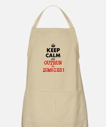 KEEP CALM but OUTRUN the ZOMBIES Apron