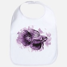 Purple Betta Fish Bib