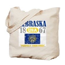 "NEBRASKA USA 1867 STATEHOOD ""PERFECT TOGE Tote Bag"