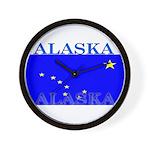 Alaska State Flag Wall Clock