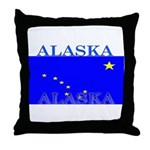 Alaska State Flag Throw Pillow