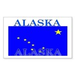 Alaska State Flag Rectangle Sticker