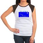 Alaska State Flag Women's Cap Sleeve T-Shirt
