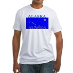 Alaska State Flag Fitted T-Shirt