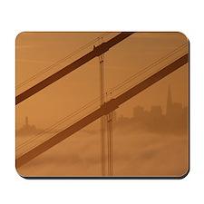 San Francisco thru Golden Gate Bridge Mousepad