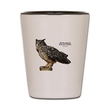 Eurasian Eagle Owl Shot Glass