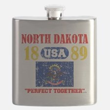"NORTH DAKOTA USA 1889 STATEHOOD ""PERFECT TOG Flask"