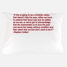 Christian Nation Quote Pillow Case