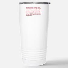 Christian Nation Quote Travel Mug