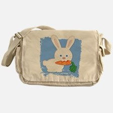 One Carrot Quilted White Rabbit Messenger Bag