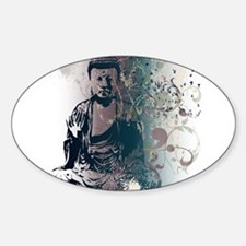 Pretty Buddha Oval Decal