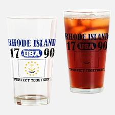 "RHODE ISLAND USA 1790 STATEHOOD ""PE Drinking Glass"