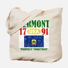 """VERMONT USA 1791 STATEHOOD """"PERFECT TOGET Tote Bag"""