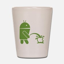 Android pissing on Apple. Shot Glass