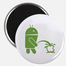 Android pissing on Apple. Magnet