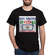 "WEST VIRGINIA USA 1863 STATEHOOD ""PE T-Shirt"