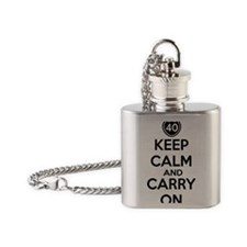 Keep calm 40 Flask Necklace