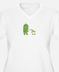 Android pissing on Apple. Plus Size T-Shirt