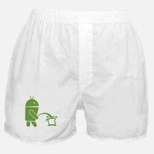 Android pissing on Apple. Boxer Shorts