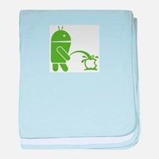 Android pissing on Apple. baby blanket