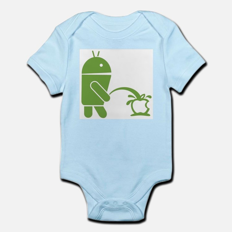 Android pissing on Apple. Body Suit