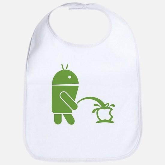 Android pissing on Apple. Bib