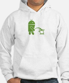 Android pissing on Apple. Hoodie