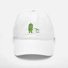 Android pissing on Apple. Baseball Baseball Cap