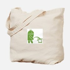 Android pissing on Apple. Tote Bag