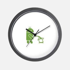 Android pissing on Apple. Wall Clock