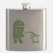 Android pissing on Apple. Flask