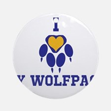 I heart my wolfpack Ornament (Round)
