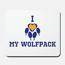 I heart my wolfpack Mousepad