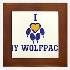 I heart my wolfpack Framed Tile