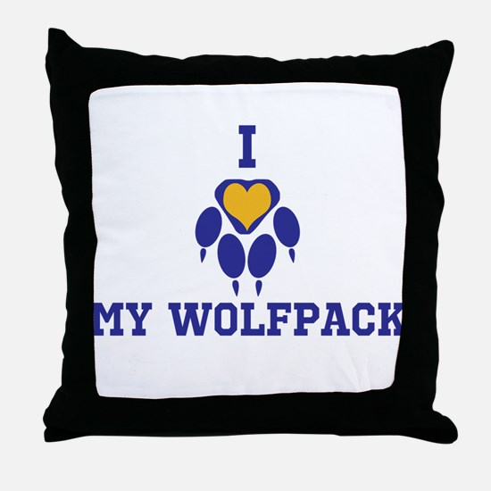 I heart my wolfpack Throw Pillow