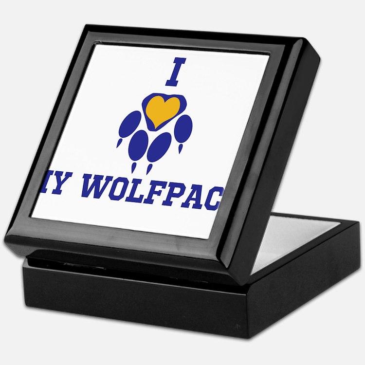 I heart my wolfpack Keepsake Box