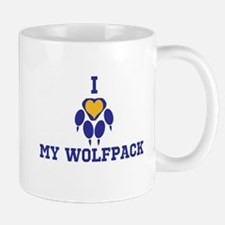 I heart my wolfpack Mugs
