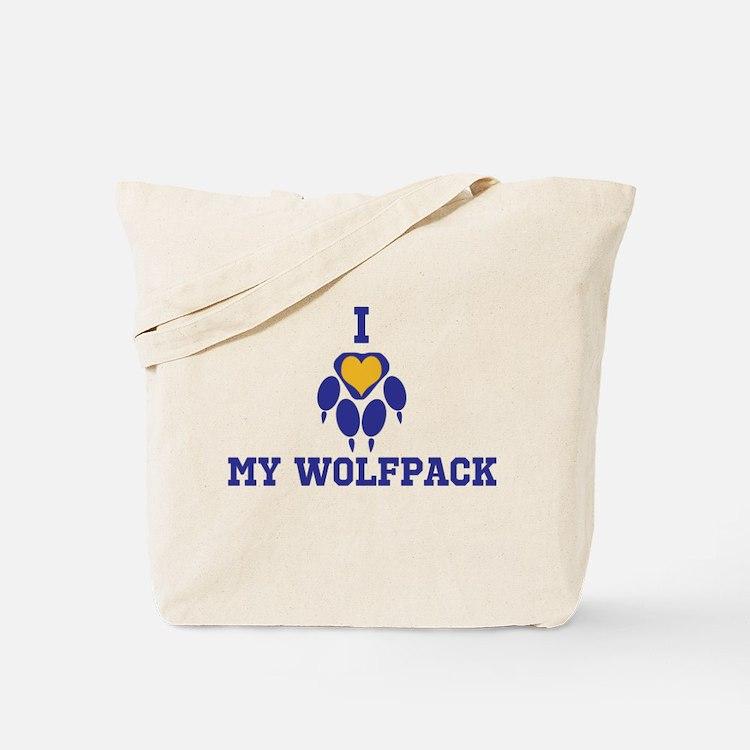 I heart my wolfpack Tote Bag