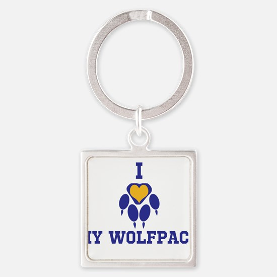 I heart my wolfpack Keychains