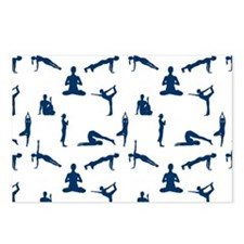 Yoga Positions Pattern Postcards (Package of 8)