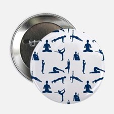 "Yoga Positions Pattern 2.25"" Button (10 pack)"