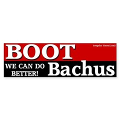 Boot Bachus Bumper Bumper Sticker