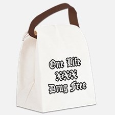 One Life Drug Free Canvas Lunch Bag