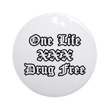 One Life Drug Free Ornament (Round)