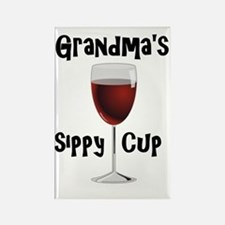 Grandma's Sippy Cup Rectangle Magnet