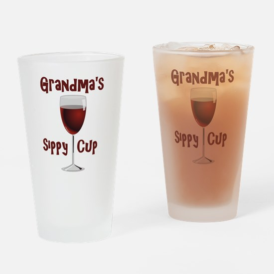 Grandma's Sippy Cup Drinking Glass