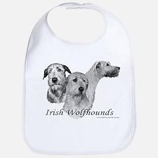 3 Irish Wolfhound Bib