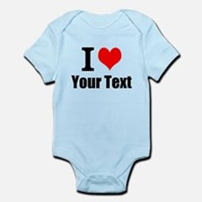 I Heart (your text here) Infant Bodysuit